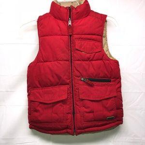 GAP red puffy vest